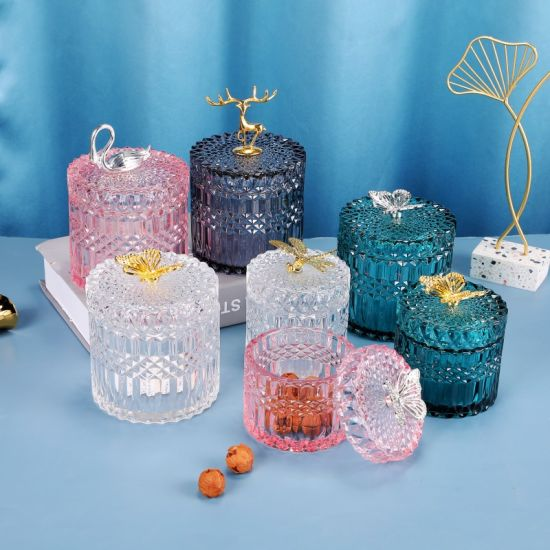 Wholesales High Quality Transparent Glass for Holding Jars Jewelry Jars Andhousehold Items, Glass Ware, Glass Craft