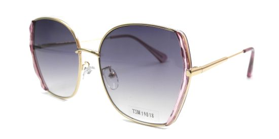 Stylish Bigsized Full Sunglasses for Ladies, High Quality Gold Metal Sunglasses Frame