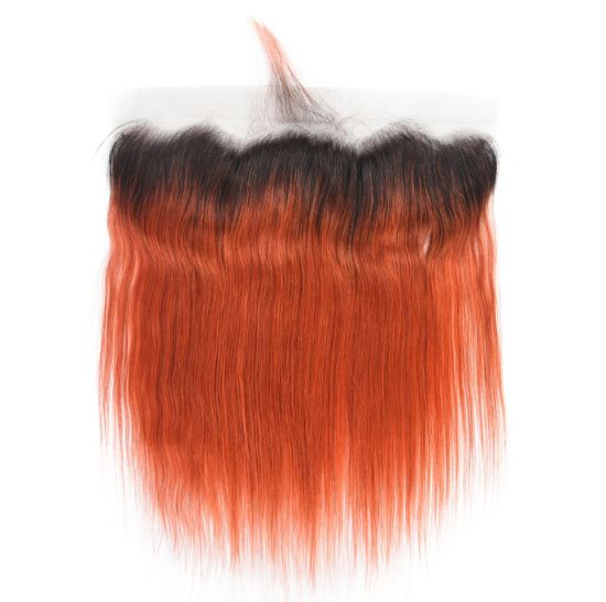 Ombre 1b/350 Human Hair Frontal Closure Straight Lace Frontal pictures & photos