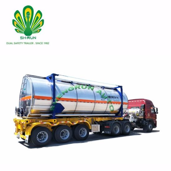 Shengrun T7/T11/T14/T50 ISO 20FT 30FT 40FT Fuel Crude Oil Truck Tank Container with CCS
