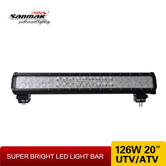 "20"" 126W High Output 4X4 Offroad CREE LED Light Bar pictures & photos"