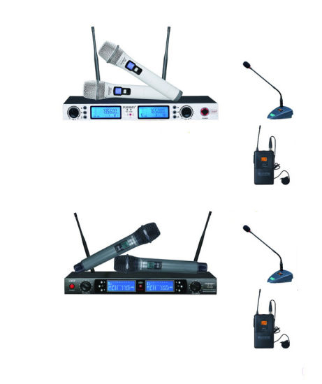Four Channels VHF Wireless Microphone/Microfono for KTV, Meeting, Conference Equipment pictures & photos