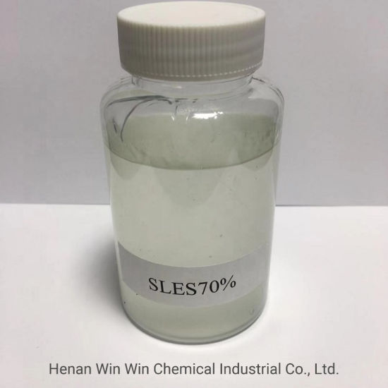 White Viscous Liquid Form 70% Min SLES for Detergent Industry