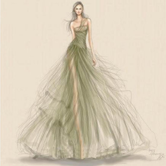 c1798341ca Design Drawing Manuscript Sketch Realizable Wedding Dress (Dream-100002)  pictures   photos