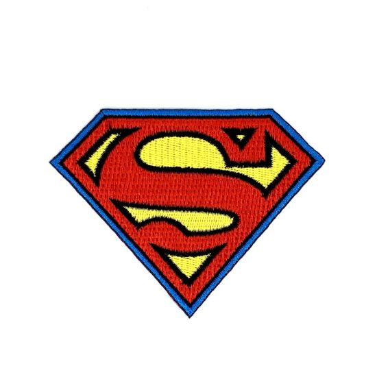 Hot Sale embroidery 3D Puff Embroidery Patch of Super Man