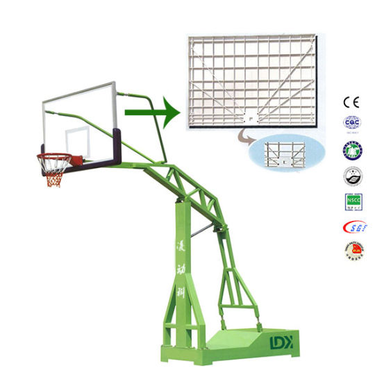 Outside Moveable Steel  Base  with  Tempered Glass Basketball Stand pictures & photos