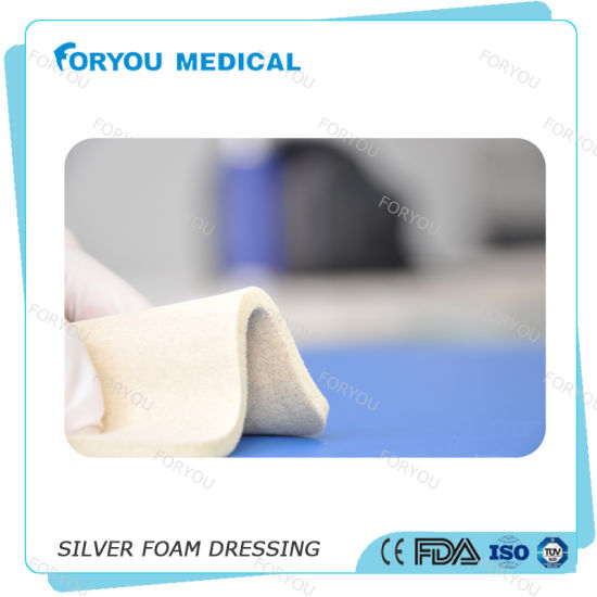 Foryou 510k Silver Adhesive Foam Dressing for Infected Wounds pictures & photos