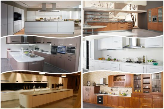 Cutomized Wooden UV MDF High Glossy Kitchen Cabinet pictures & photos