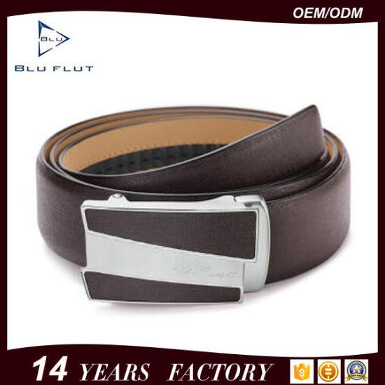 Fashion Custom Brand Designer Cowhide Ratchet Leather Men Belts