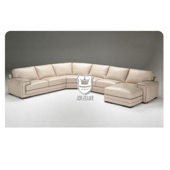 Leather Sectional U Shape Design 10 Seater Sofa Unit