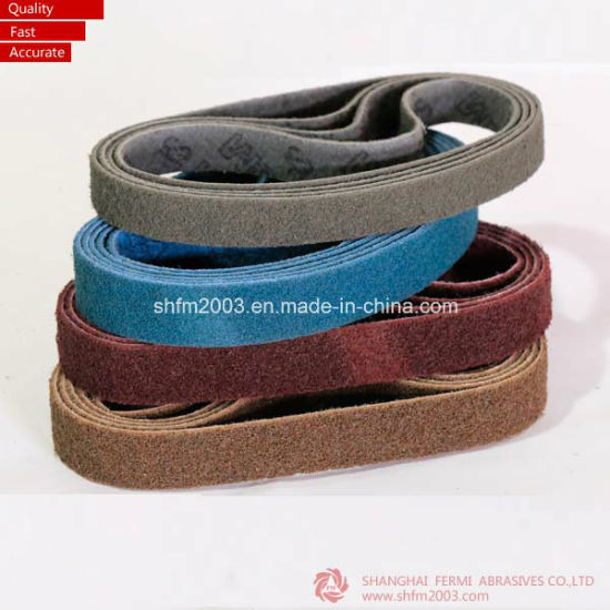 100*3000mm Non-Woven Sanding Belts Abrasives with Good Joint (High Quality) pictures & photos