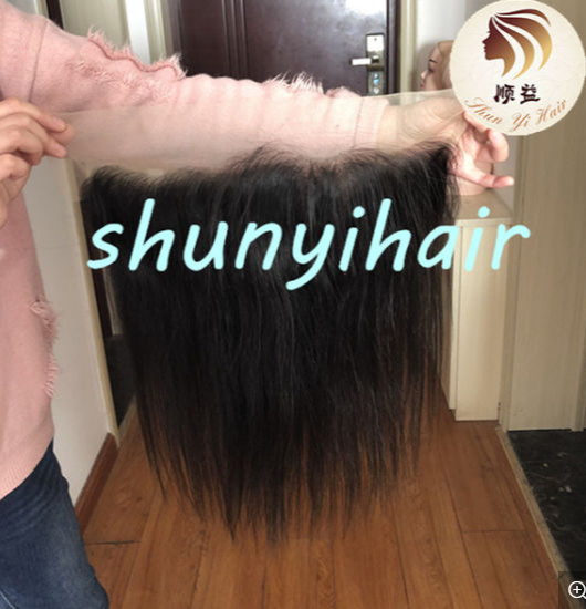 High Quality Hot Selling Swiss Lace Brazilian 100% Virgin Human Hair Straight Transparent Lace Lace Frontal