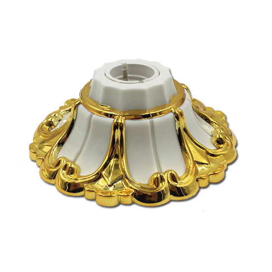 LED Base B22 Pin Type Lamp Holder Golden Color Lampholder