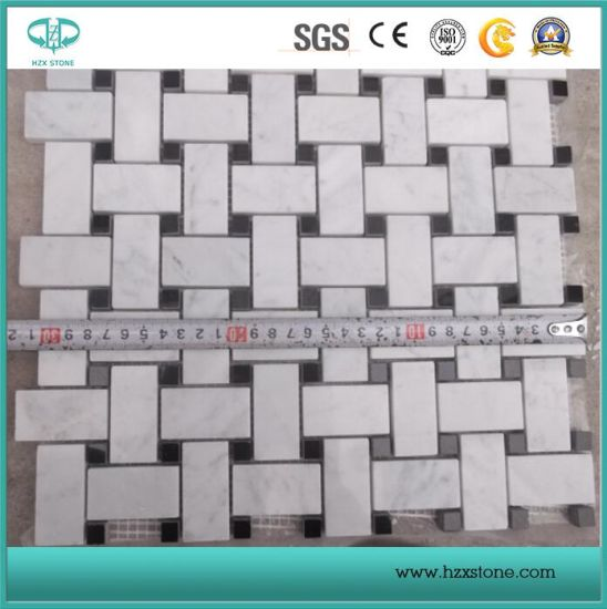 White Marble/Marble Slabs/White Marble Mosaics/China Marble Mosaics/Mosaic Border/Tiles pictures & photos