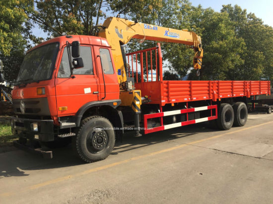 6X4 210HP 10 Tons Heavy Duty Cargo Truck Mounted with Crane pictures & photos