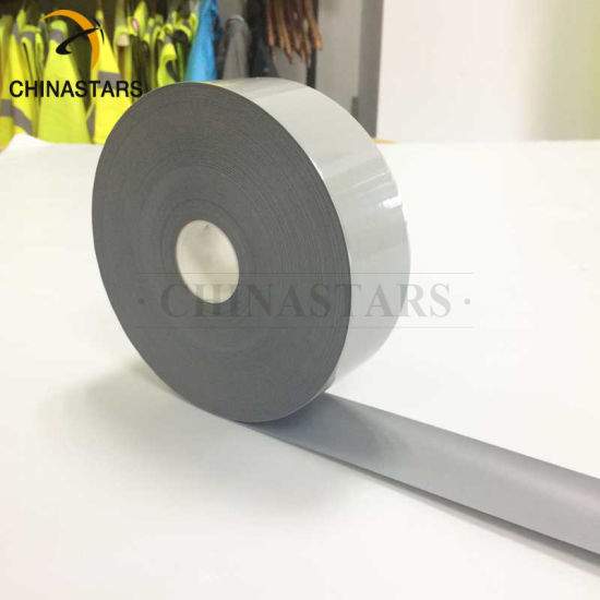 ANSI 107 Class 2 25 Cycles Washing Grey Reflective Heat Transfer Film