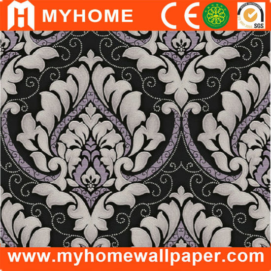 china black and white damask design wallpaper guangzhou china