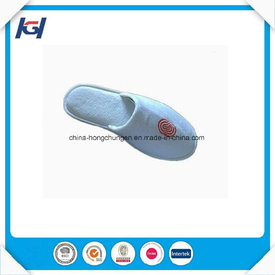 White Waffle Disposbale Hotel One Size Fits All Slippers pictures & photos