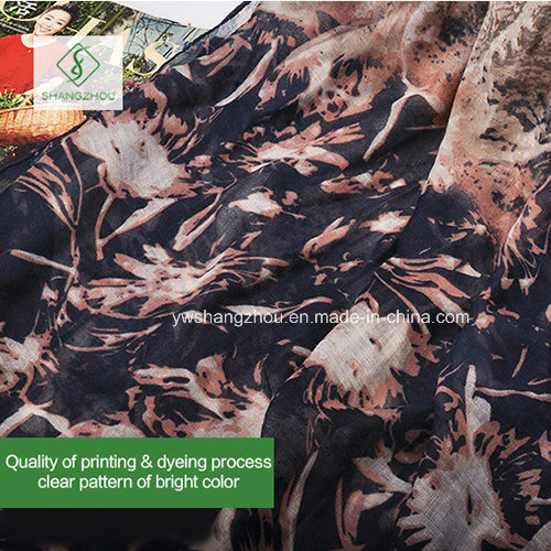 2017 Newest Cashew Flowers Printed Viscose Shawl Fashion Lady Scarf pictures & photos
