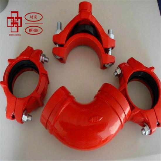 11.25deg/22.5deg/45deg/90deg Elbow Ductile Iron Casting Grooved Pipe Fitting