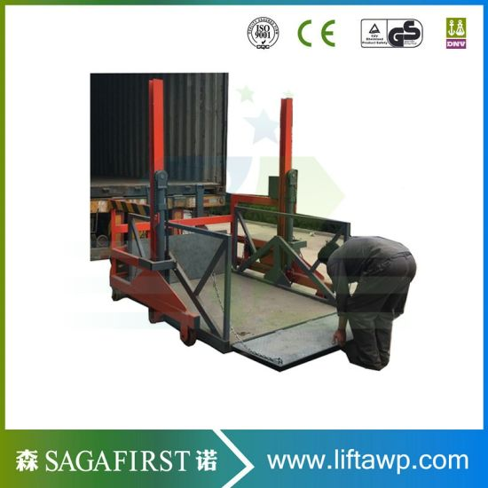 China Factory Produced Hydraulic Truck Unloading Lift Ramp pictures & photos