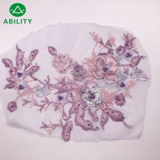 High Quality Hot Selling 3D Flower Bridal French Lace Fabric
