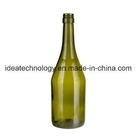 Hot Sell Glass Dark Green Color Champagne Glass Bottle pictures & photos