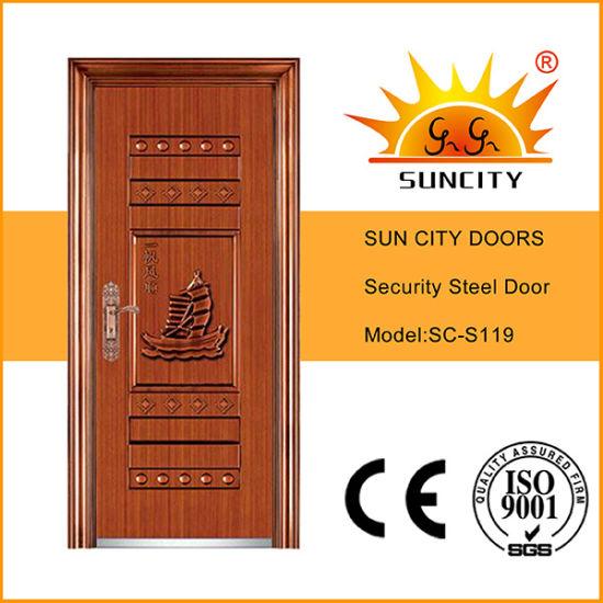 Modern Designs Indian Secure Metal Door for Sale Price (SC-S119)