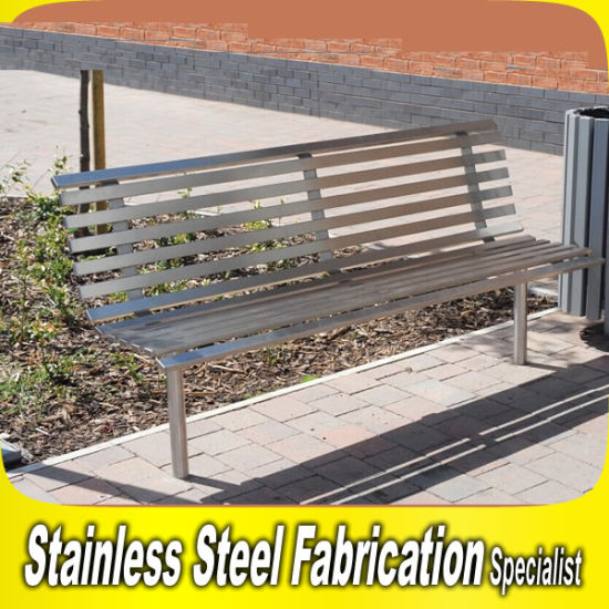 Phenomenal Keenhai Oem Design Outdoor Stainless Steel Garden Bench Seat Pabps2019 Chair Design Images Pabps2019Com