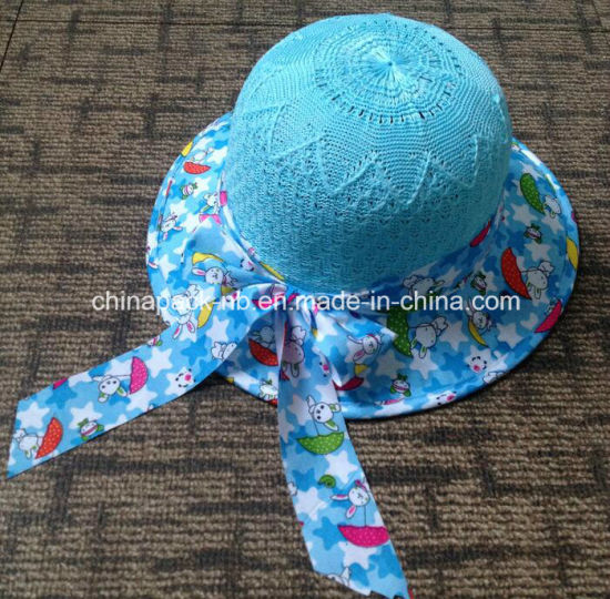 Childrens Multicolor Kint Bowler Hats for Girls (CPA_80054) pictures & photos