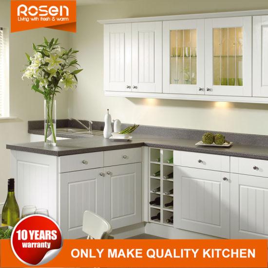 Matt Glass Door Added to White Online Kitchen Cabinets Furniture