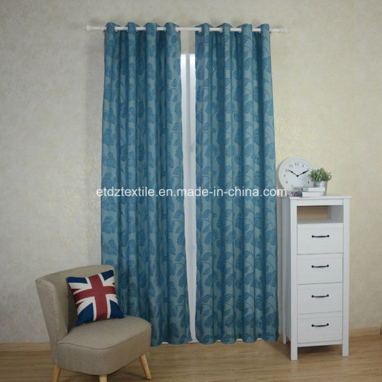 2018 Typical Polyester Folwer Jacquard Window Curtain pictures & photos