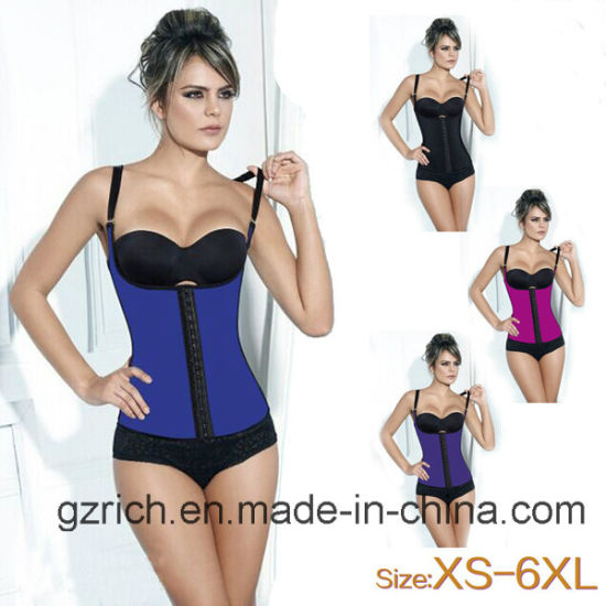 a22476b474 Sexy Women Latex Waist Training Corset Shaper Waist Training Body Shaper  Vest pictures   photos
