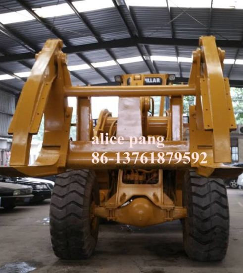 Caterpillar Wheel Loader with Grapple of Used Wheel Loader for Wooden Delivery pictures & photos