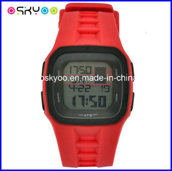 Customize 3ATM Waterproof LCD Digital Electronic Sports Wristwatch pictures & photos