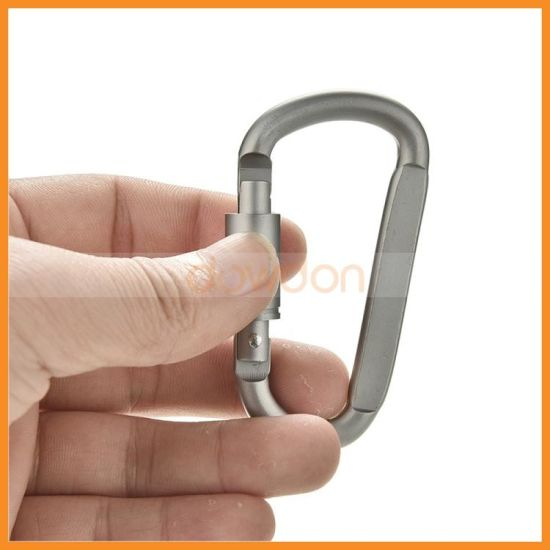 Outdoor Silver D-Type Aluminum Alloy Mountaineering Hanging Carabiner Buckle pictures & photos