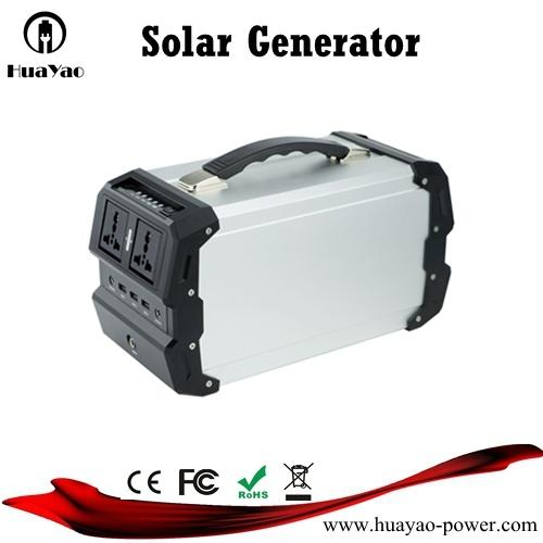 Outdoor Emergency Portable Lithium Power Generator Solar System Generator 400W Inverter
