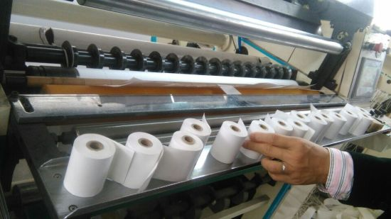High Speed Cash Register Paper Roll Rewinding Slitter Machine pictures & photos