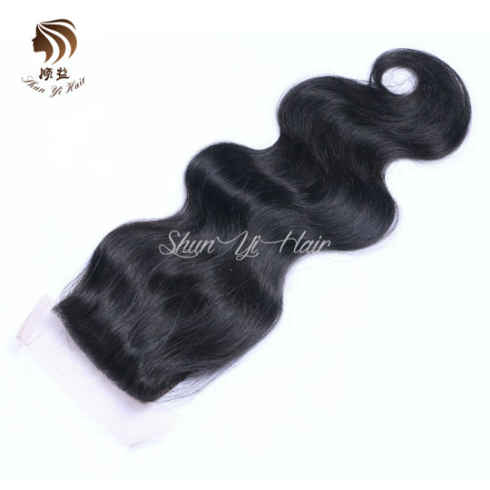 9A Lace Closure Body Wave Indian Virgin Hair