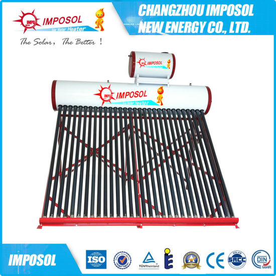Compact Nonpressure Vacuum Tube Solar Water Heater with Assistant Tank