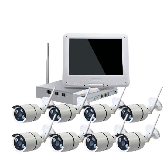 8CH WiFi CCTV Kits HD 960p 8PCS 1.3MP IR Bullet CCTV Waterproof Security Wireless Camera Bulit in 10.1 Inches All in One NVR Whole Package Surveillance System pictures & photos