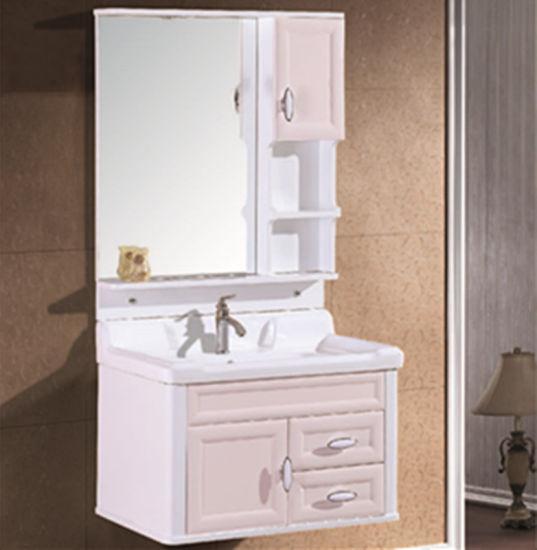 China 2019 Pvc Light Pink Bathroom Vanity Cabinet China Bathroom Vanity Bathroom Furniture