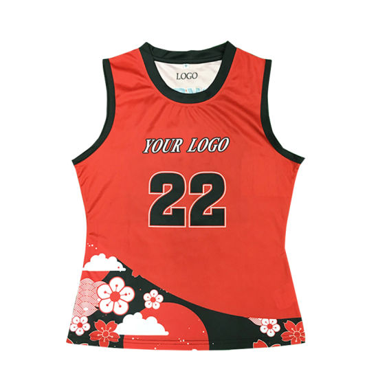 Healong Sublimation Printing Basketball Jersey Latest Cheap Women Basketball Uniform