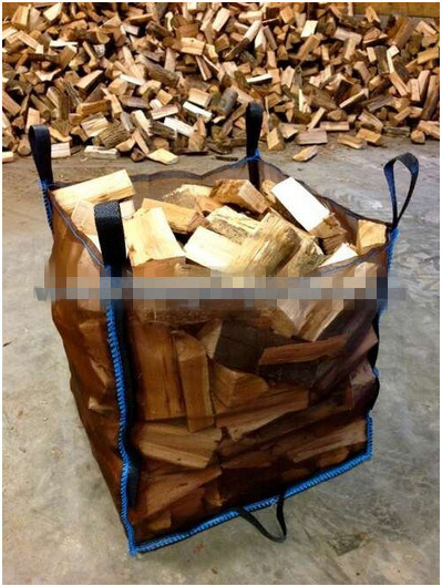 Ventilated Big Bag for Firewood Packing/ 4 Sides Mesh Breathable Fabric, UV Treated