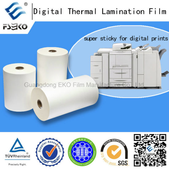Strong Adhesive BOPP Thermal Film for Digital Printing pictures & photos