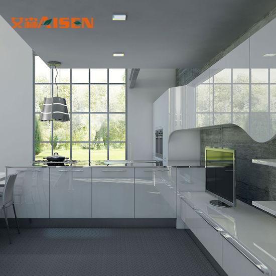 China Apartment Cheap Kitchen Furniture Modern Kitchen Cabinet Doors