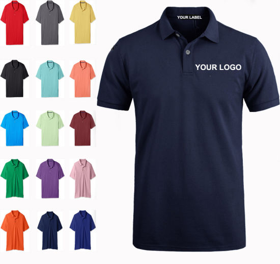 Custom Sublimation Short Sleeve Dry Fit Polo Shirts, Printing Embroidery Plain Blank Golf Mens Cotton Polo Shirt with Private Label