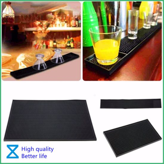 2020 New Arrival Customized PVC Rubber Silicone Bar Mat for Promotional Gifts