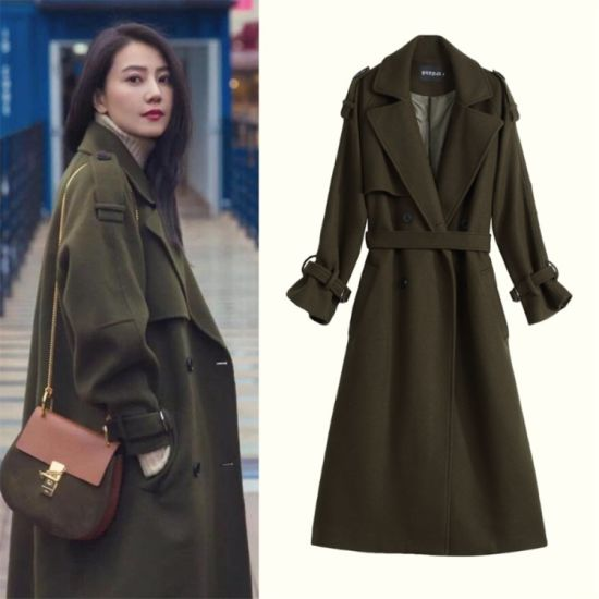 e03b1423f China Womens New Cashmere Wool Blend Overcoat in Autumn and Winter ...