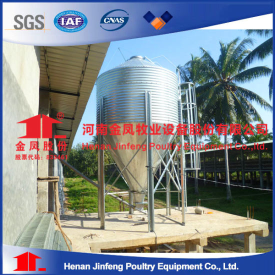 China Jinfeng Poultry House Use Feed Hopper Silo - China